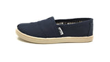 Toms Classic Canvas Slip On Kids/Youth Shoes Navy Blue