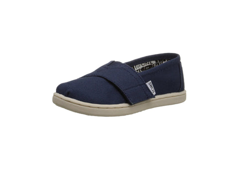 Toms Classic Canvas Slip On Navy Blue Infant Shoes