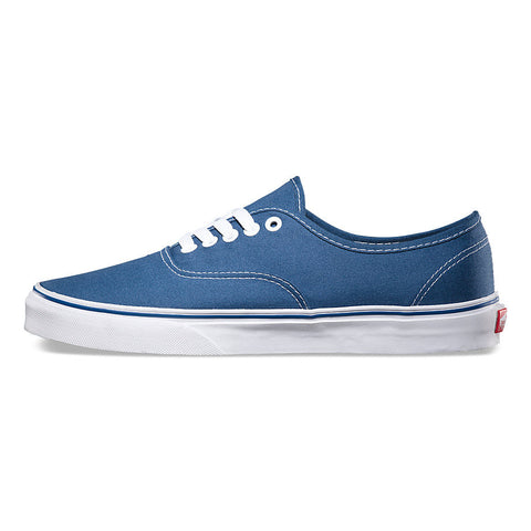 Vans Men's Authentic Navy Blue White Skate Shoes