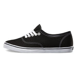 Vans Unisex Authentic Lo Pro Skate Shoes Black-True white