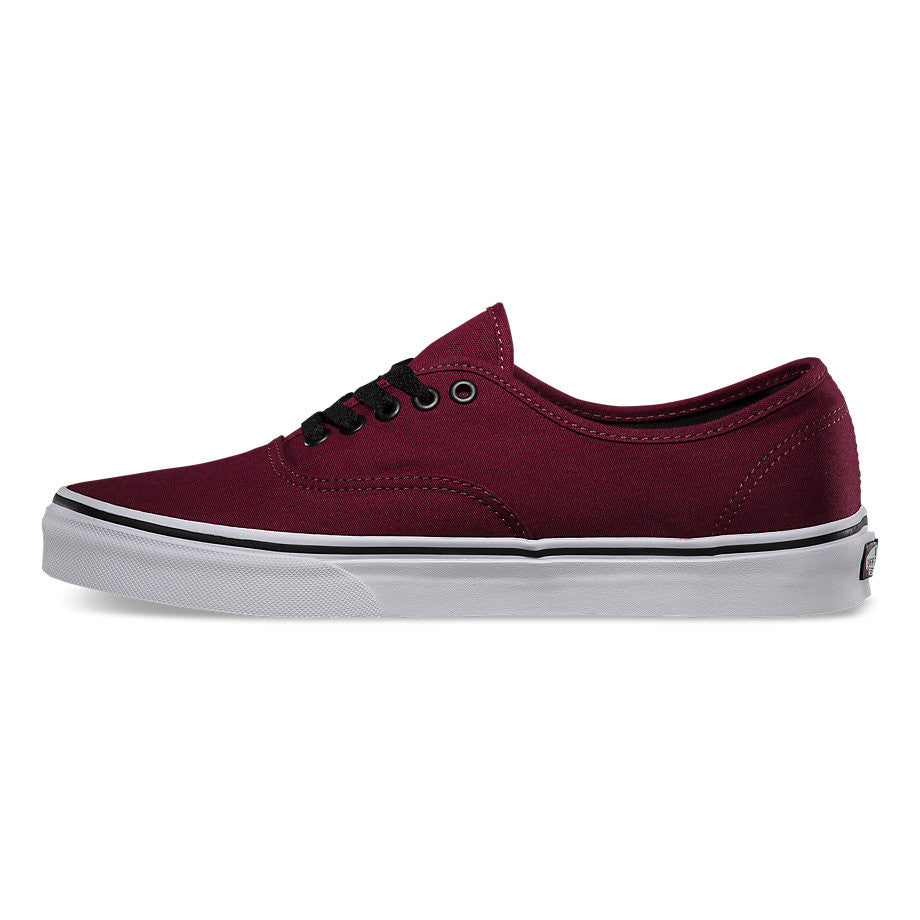 41f2895df5b Vans Men s Authentic Port Royal Burgundy Red Skate Shoes – ShoeAngle.com