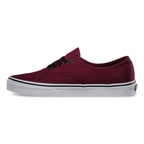 Vans Men's Authentic Port Royal Burgundy Red Skate Shoes