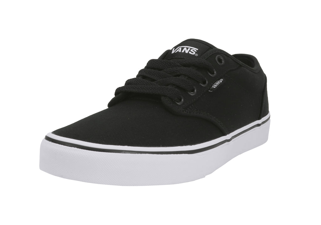 8544e7557d96fd Vans Unisex Shoes Atwood Canvas Black White Size 7.5 Men 9 Women ...