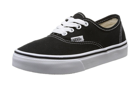 Vans Authentic Black True White Skate Shoes Kids/Youth
