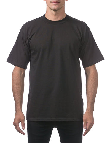 Pro Club Men's Heavyweight Cotton Short Sleeve Crew Neck T-Shirt Black