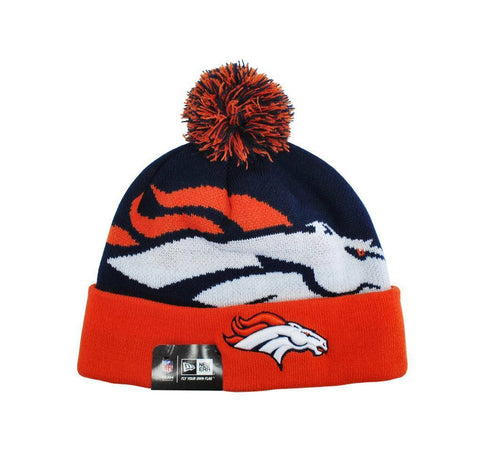 New Era Denver Broncos NFL Navy/Blue/Orange Beanie Hat