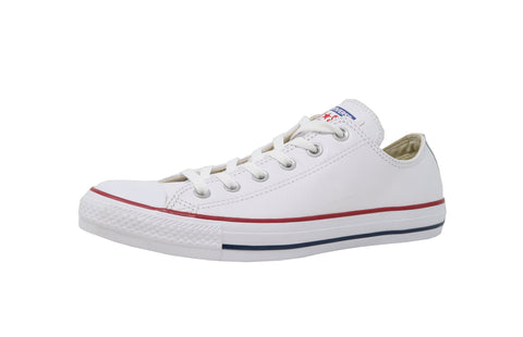 Converse All Star Low Synthetic Leather White Men/Women Shoes