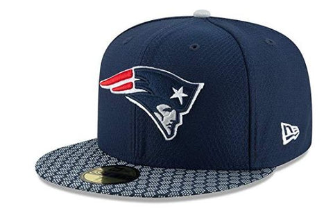 New Era 59Fifty Hat New England Patriots NFL On Field Sideline Fitted Headwear Cap