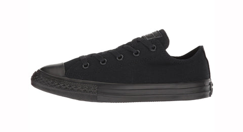 Converse All Star Low Top Kids Youth Black Monochrome Shoes