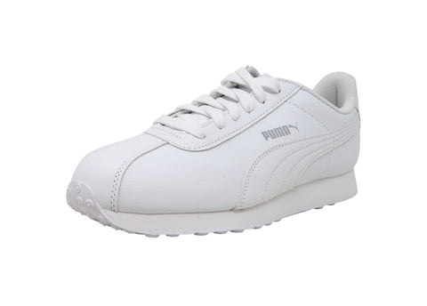 Puma Juniors/Big Kid's Shoes Turin Leather White Fashion Sneakers