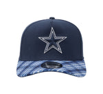 New Era 39Thirty Cap Men's Dallas Cowboys Plaid Pop Navy Blue  Hat