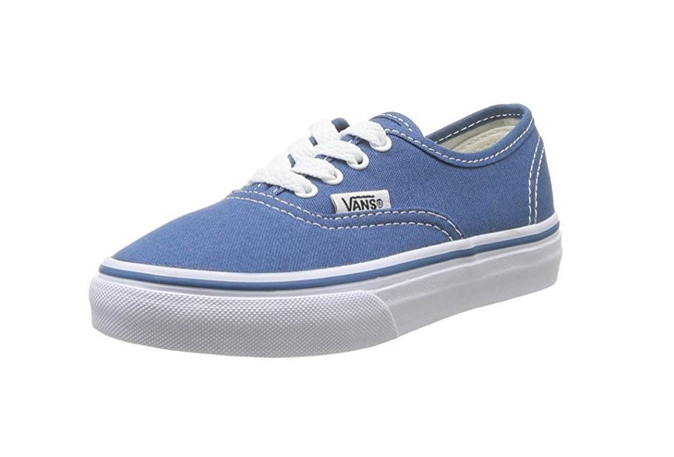 Vans Kid s Shoes Authentic Navy Blue White Fashion Sneakers ... 58a1e0f68