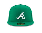 New Era Atlanta Braves Fitted Hat Kelly Green