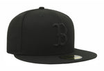 New Era 59Fifty Boston Red Sox Black on Black Fitted Hat