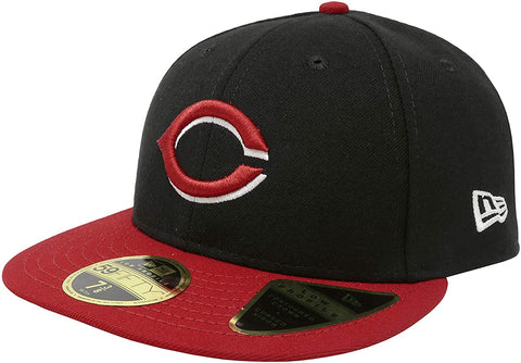 New Era Men's Cincinnati Reds 59Fifty Alternate Black Low Crown Fitted Hat