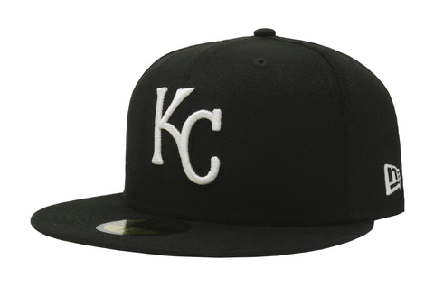 New Era 59Fifty League Basic Kansas City Royals Black & White Cap