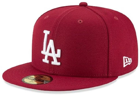 New Era 59Fifty MLB Basic Los Angeles Dodgers Fitted Burgundy
