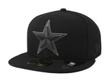 New Era Cap Men's 59Fifty Dallas Cowboys Black Grey Basic Hat