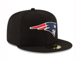 New Era 59Fifty Hat NFL New England Patriots Black Fitted Cap