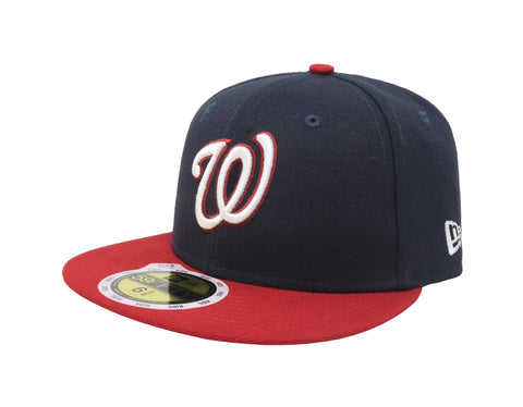 New Era 59Fifty Kids Washington Nationals Navy/Red/White Blue Cap