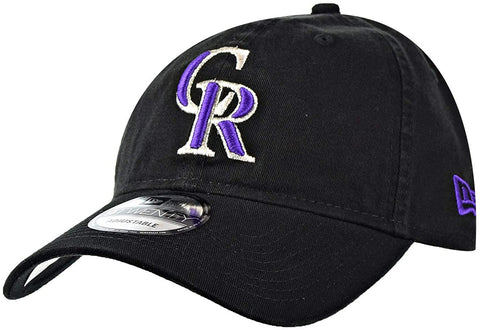 New Era 9Twenty Colorado Rockies Black/Purple/Silver Adjustable Cap
