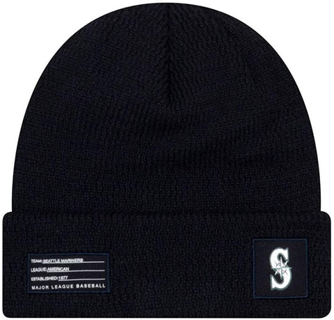 New Era MLB Seattle Mariners Navy Blue Beanie 11779508