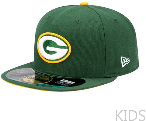 New Era 59Fifty Kids Green Bay Packers Green/Yellow Cap