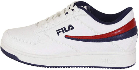 Fila Men's A-Low Athletic Shoes White/Navy/Red Sneakers