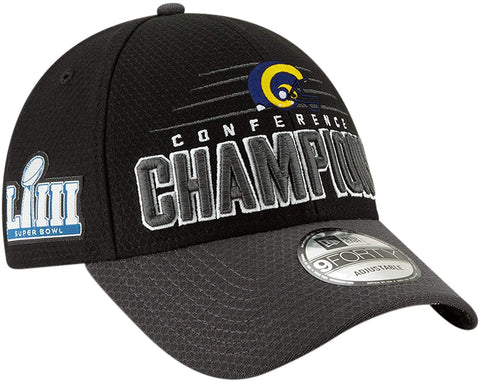 New Era Los Angeles Rams Conference Champions Locker Room 9FORTY Hat