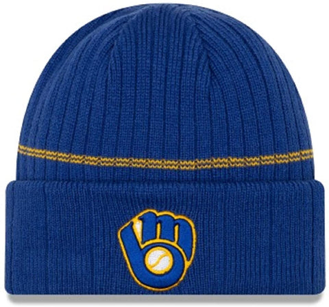 New Era MLB Milwaukee Brewers Royal Blue/Gold Beanie 12071057