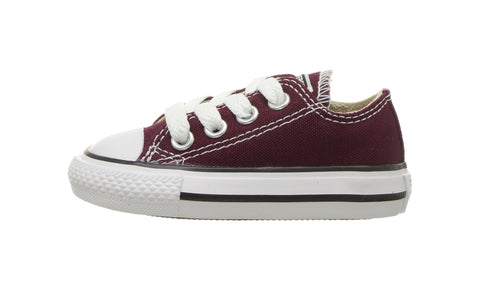 Converse Chuck Taylor All Star Ox Toddler Burgundy/White Shoes