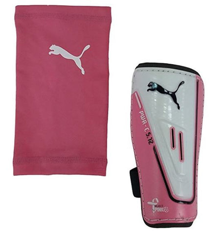 Puma Women's Power Cat 5.12 Protection Pink/White Shinguards