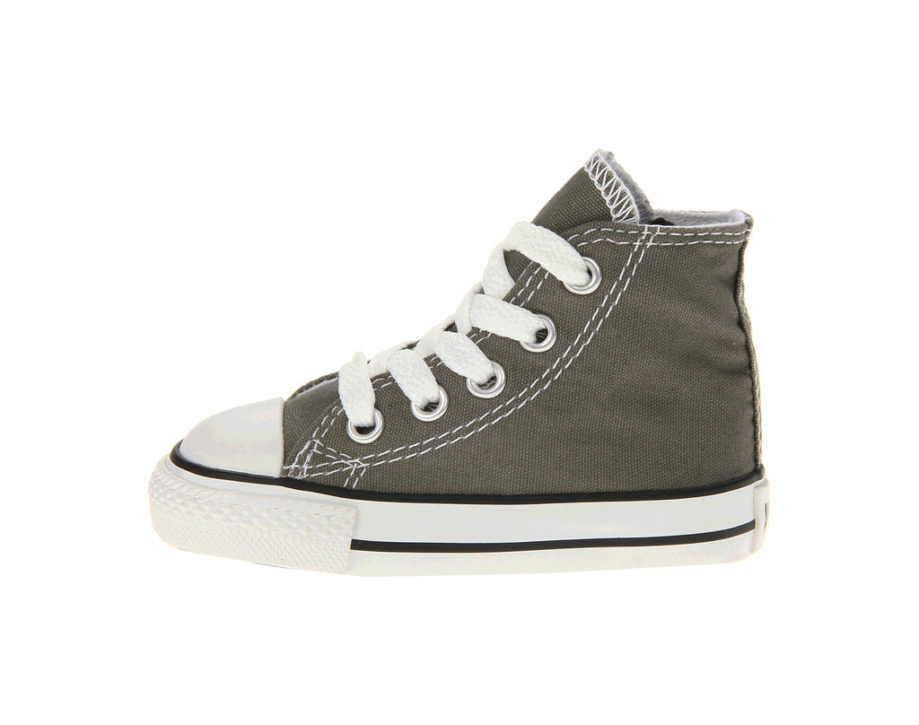 3c259158a654b6 Converse All Star Hi Charcoal White Toddler Infant Baby Shoes ...