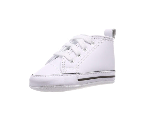 Converse New Born/Crib Shoes First Star White Leather Sneakers