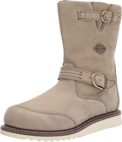 Harley-Davidson Women's Beige color Hanlon Motorcycle Boot