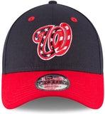 New Era 9Forty Washington Nationals Navy Blue/Red adjustable cap