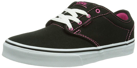 Vans Kid's Shoes Atwood Canvas Black with Pink Girls Sneakers