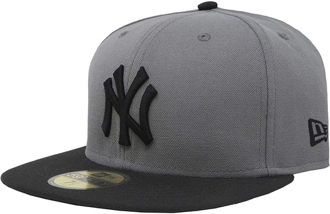 New Era 59Fifty New York Yankees MLB Basic Storm Gray/Black Fitted Cap