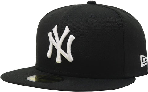 New Era 59Fifty New York Yankees Fitted Black/White Hat