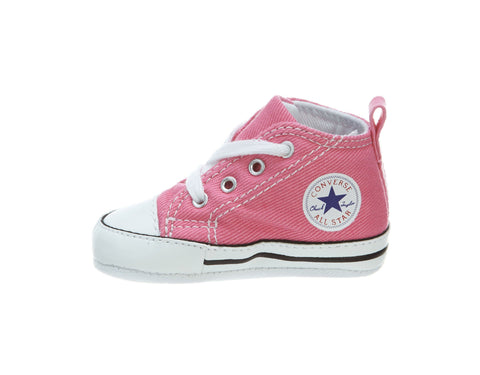 Converse New Born/Crib Shoes First Pink/White Star