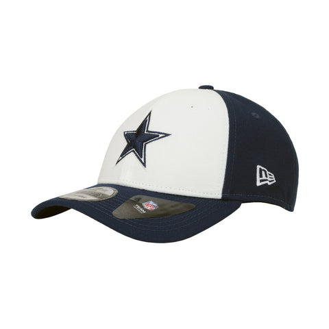 434579827 New Era Cap Men s Dallas Cowboys The League White Navy Blue Adjustable  Strap Hat