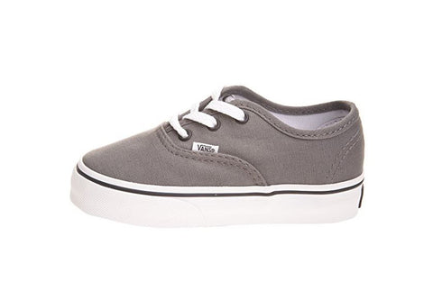 Vans Kid's Shoes Authentic Pewter Black Fashion Sneakers