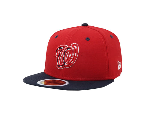 New Era 59Fifty Kids Washington Nationals Red/Navy Blue Cap