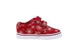 Vans Infant/Toddlers Shoes Atwood V Strap Snowflakes Red Sneakers