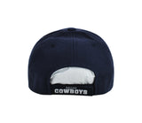 Cowboys Cap Men's Basic Wool Logo Navy Blue Hat
