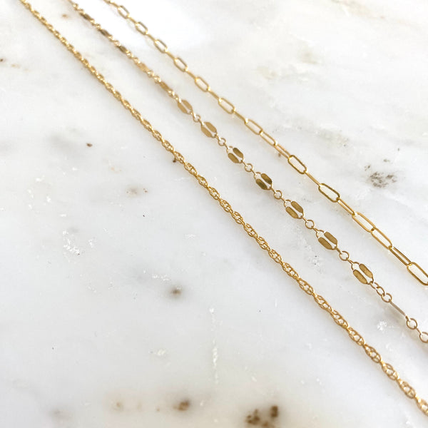 Naked Chain Layering Necklace