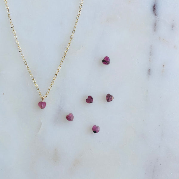 The Tiny Heart Gem Necklace