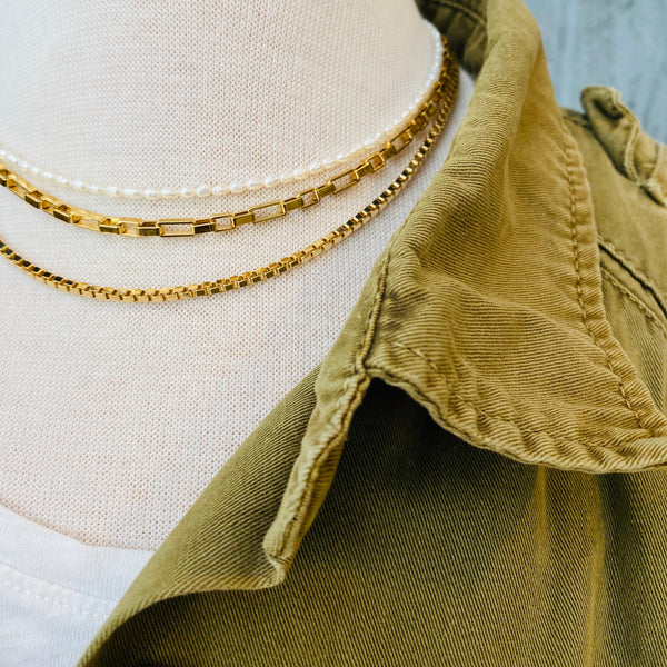 The Box Link Necklace