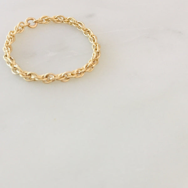 French Rope Chain Ring