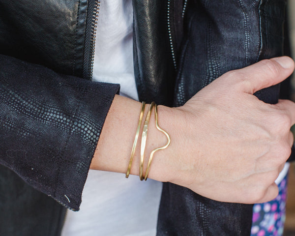 Brass Tapered Cuff